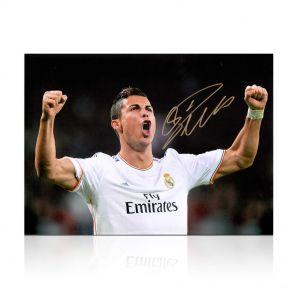 Cristiano Ronaldo Signed Real Madrid Photo