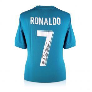 Cristiano Ronaldo Signed 2017-18 Real Madrid Third Football Shirt In Gift Box