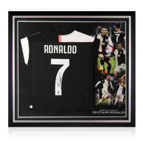 Cristiano Ronaldo Signed Juventus Football Shirt 2019-20. Premium Frame