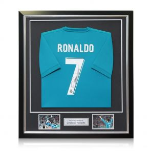 Cristiano Ronaldo Signed Framed 2017-18 Real Madrid Away Football Shirt