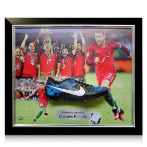 Cristiano Ronaldo Signed Football Boot: Portugal Presentation