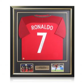 Framed Cristiano Ronaldo Signed Portugal Euro 2016 Shirt