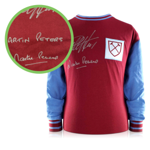 Peters And Hurst Signed West Ham Shirt