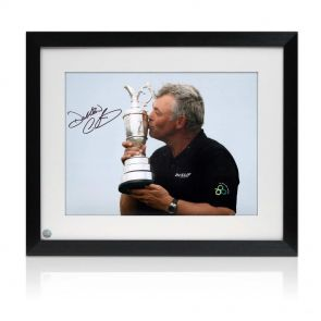 Darren Clarke Signed And Framed Photograph: Open Champion