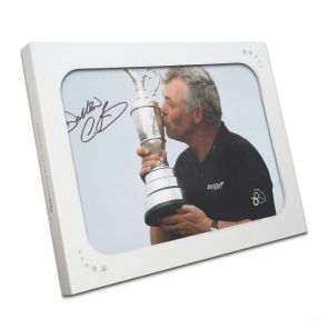 Darren Clarke Signed Photograph: Open Champion. In Gift Box