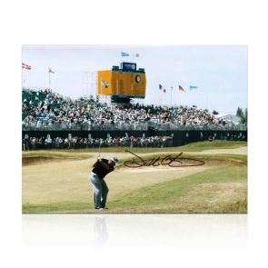 Darren Clarke Signed Photograph: The Winning Shot. In Gift Box