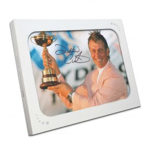 Darren Clarke Signed Photograph: Ryder Cup Hero. In Gift Box.