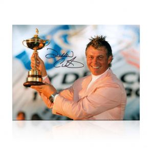 Darren Clarke Signed Photograph: Ryder Cup Hero. In Gift Box