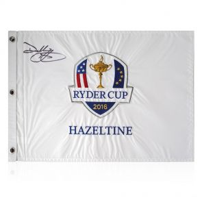 Darren Clarke Signed Ryder Cup White Pin Flag