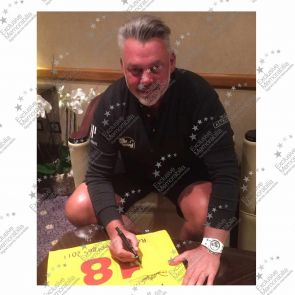 Darren Clarke Signed 2011 Open Pin Flag In Deluxe Frame