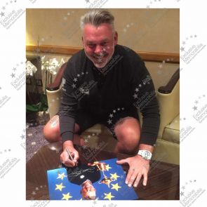 Darren Clarke Signed Framed Photograph: 2016 Ryder Cup Captain