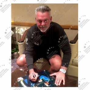 Darren Clarke Signed Photograph: Slaying The Tiger