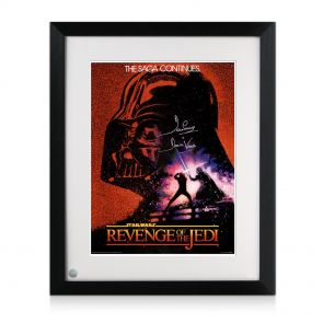 Framed Signed Revenge Of The Jedi Poster