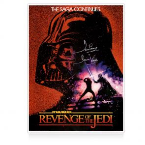Darth Vader Signed Revenge Of The Jedi Poster. In Gift Box