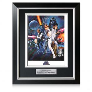 Framed Darth Vader Signed Star Wars Poster