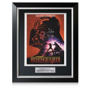 Framed Signed Revenge Of The Jedi Poster