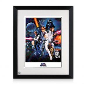 framed Darth Vader Signed Star Wars Poster