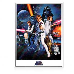 Darth Vader Signed Star Wars Poster. In Gift Box