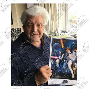 Darth Vader Signed Star Wars Poster Framed