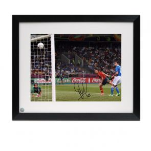 David Silva Signed Spain Photo: Euro 2012. Framed