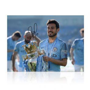 David Silva Signed Manchester City Photo: Premier League Champions