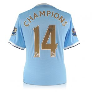 David Silva Signed Limited Edition Manchester City 2013-14 Shirt: Champions 14