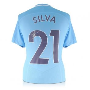 David Silva Signed Limited Edition Manchester City 2017-18 Home Shirt