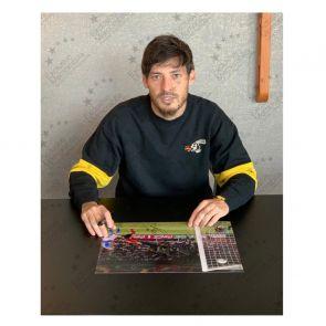 David Silva Signed Spain Photo: Euro 2012