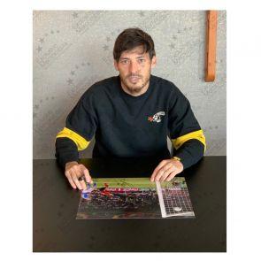 David Silva Signed Spain Photo: Euro 2012. Deluxe Frame