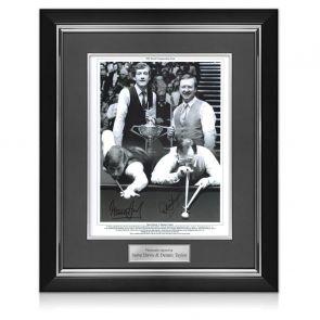 Framed Steve Davis And Dennis Taylor Signed Photo