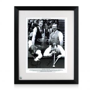 Framed Steve Davis And Dennis Taylor Signed Photo