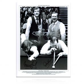 Steve Davis And Dennis Taylor Signed Photo