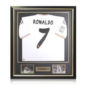 Framed Cristiano Ronaldo Signed Real Madrid Shirt