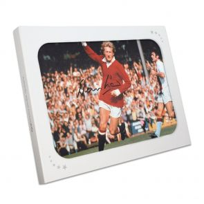 Denis Law Signed Photo Gift Box