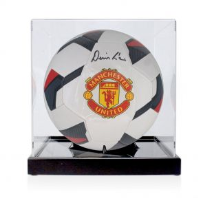 Denis Law Signed Football In Display Case
