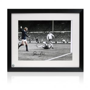Framed Denis Law Signed Photo
