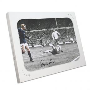 Denis Law Signed Photo In Gift Box
