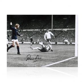 Denis Law Signed Photo