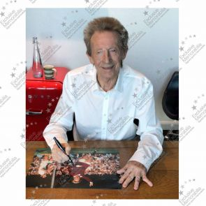 Denis Law Signed Manchester United Photo. Framed