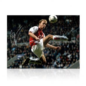 Dennis Bergkamp Signed Arsenal Photo