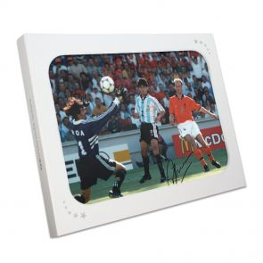 Dennis Bergkamp Signed Holland Photo In Gift Box