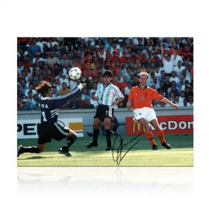 Dennis Bergkamp Signed Holland Photo