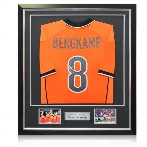 Framed Dennis Bergkamp Signed Holland Shirt
