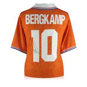 Dennis Bergkamp Signed 1994 Holland Shirt In Gift Box