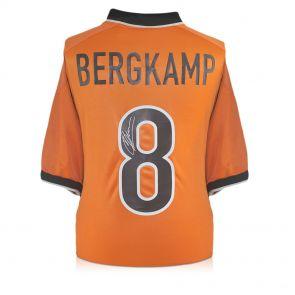 Dennis Bergkamp Signed 1998-00 Holland Nike Home Shirt In Gift Box
