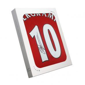Dennis Bergkamp Signed Arsenal Shirt. In Gift Box