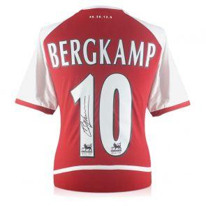 Dennis Bergkamp Signed Arsenal Heritage Invincibles Shirt