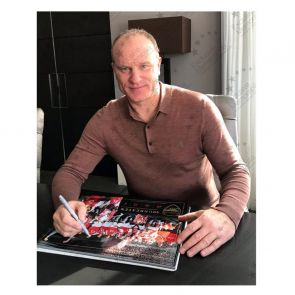 Dennis Bergkamp Signed Arsenal Photo: Invincibles. In Gift Box