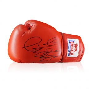 Deontay Wilder Signed Red Boxing Glove In Display Case