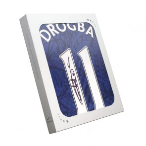 Didier Drogba Signed Chelsea 2019-20 Shirt. In Gift Box